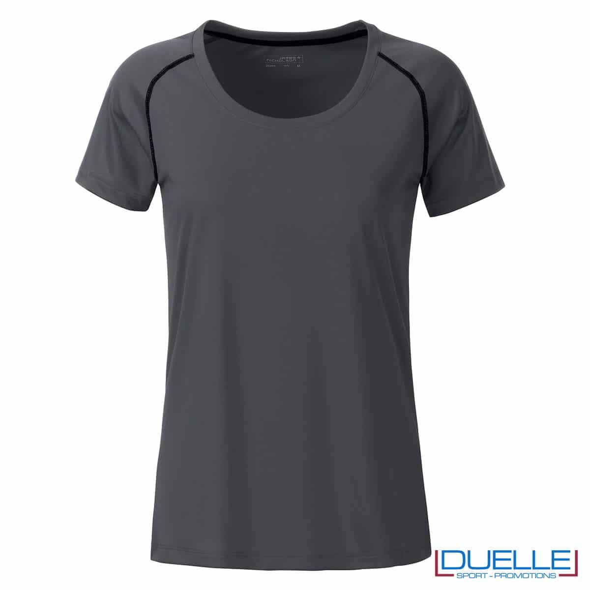 maglietta traspirante femminile color titanio