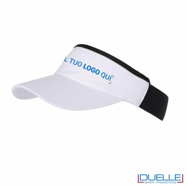 cappellino con visiera nero e bianco personalizzato