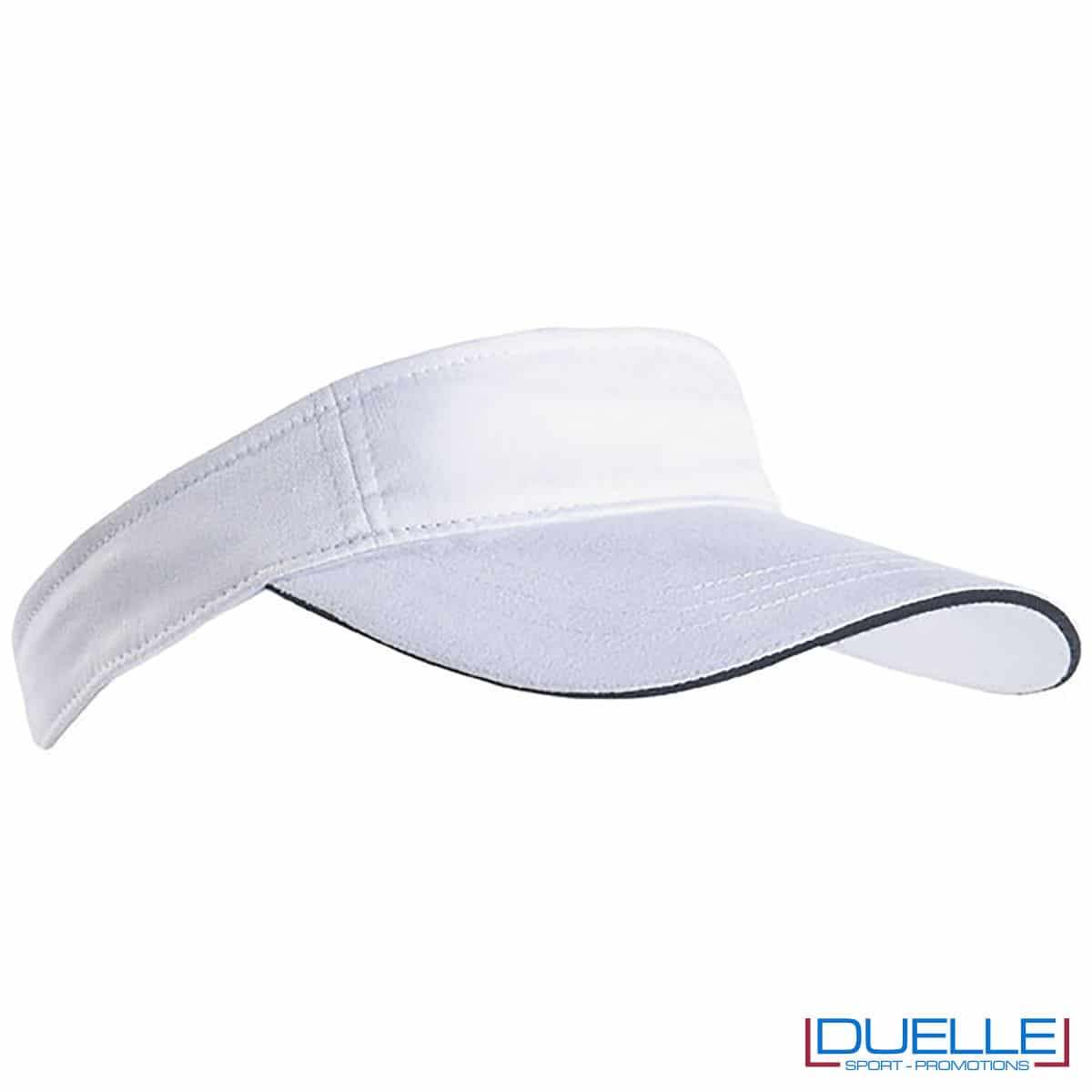 cappellino con visiera bianco e navy