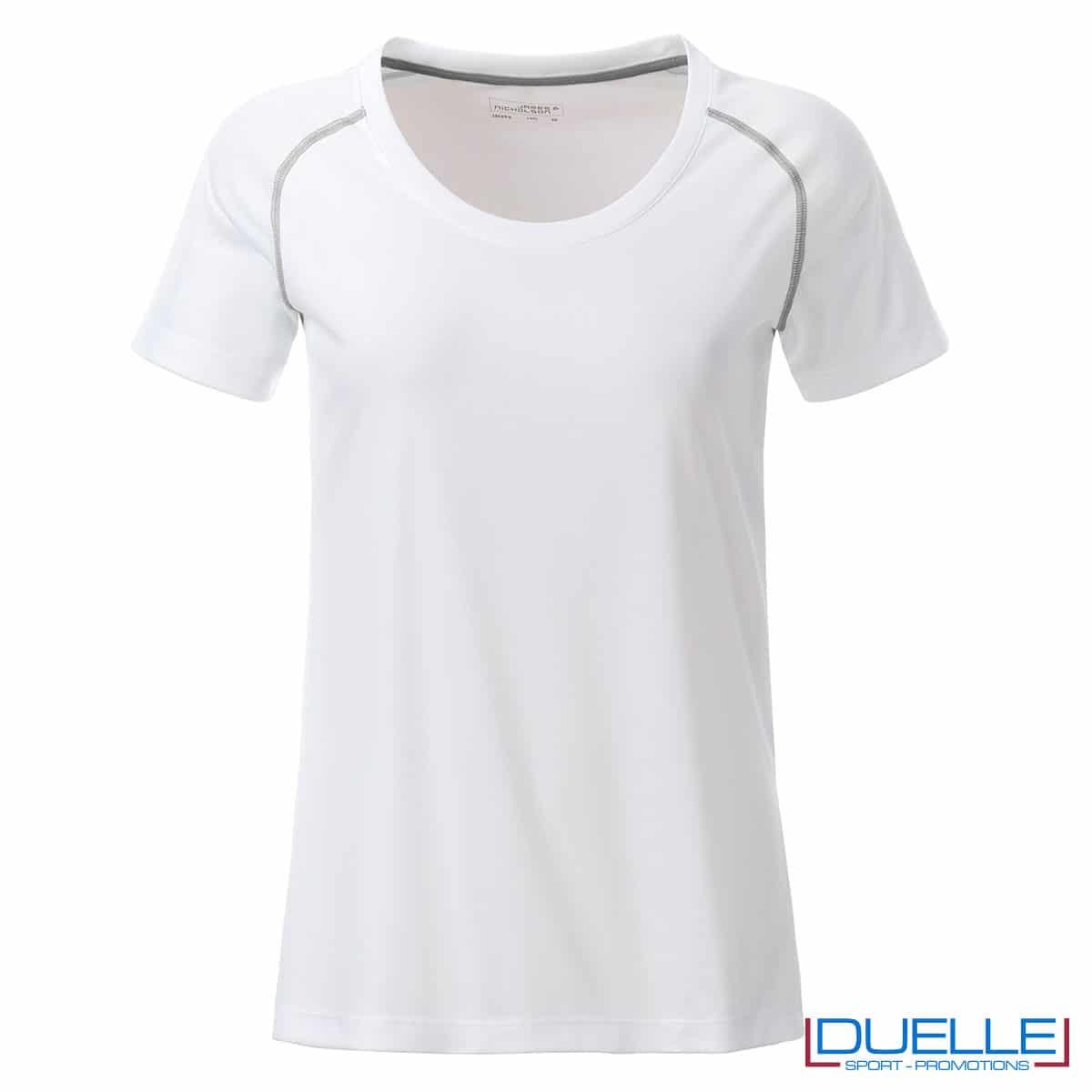 maglia bianca traspirante da donna