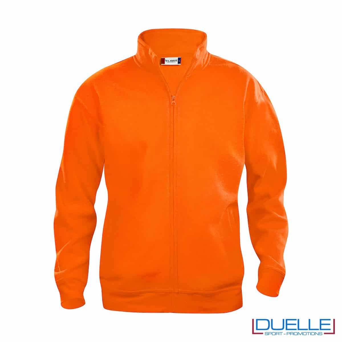 basic cardigan arancione uomo con zip