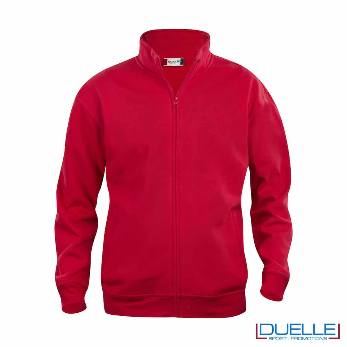 basic cardigan rosso con zip