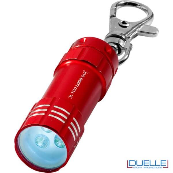 portachiavi rosso con LED 3 luci personalizzato