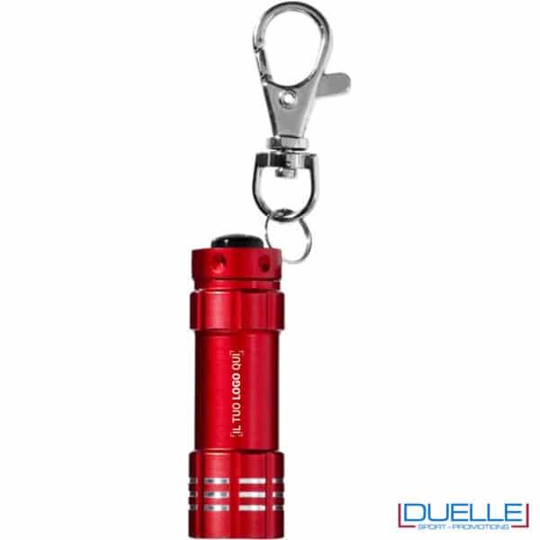 portachiavi con torcia rossa 3 luci con logo