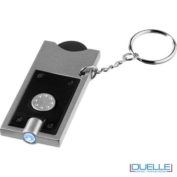 portachiavi porta moneta nero con LED