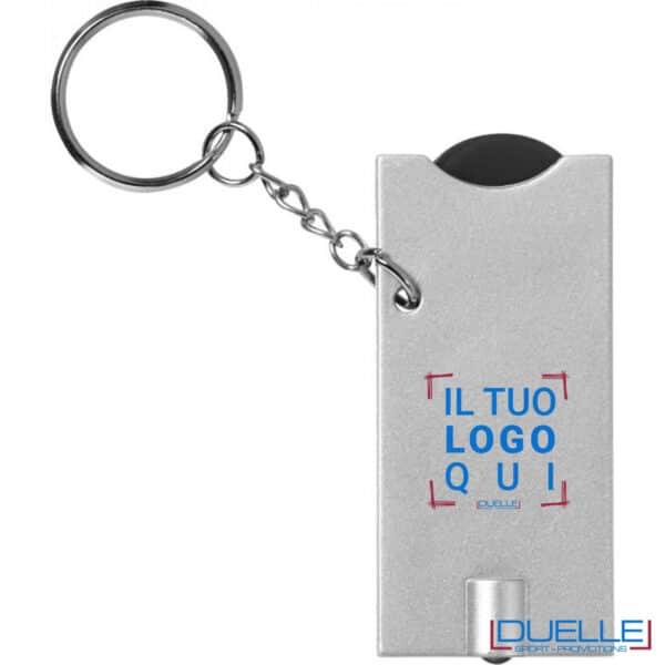 portachiavi con LED porta moneta personalizzato