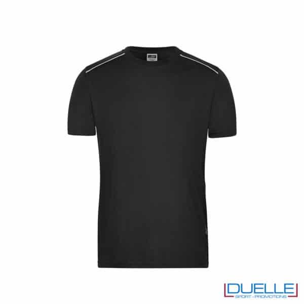maglietta nera da lavoro resistente a lavaggi