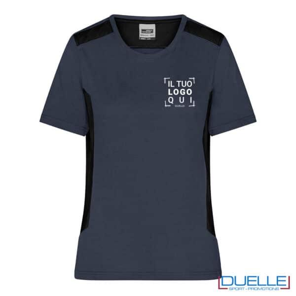 maglietta easy care antracite da lavoro con logo