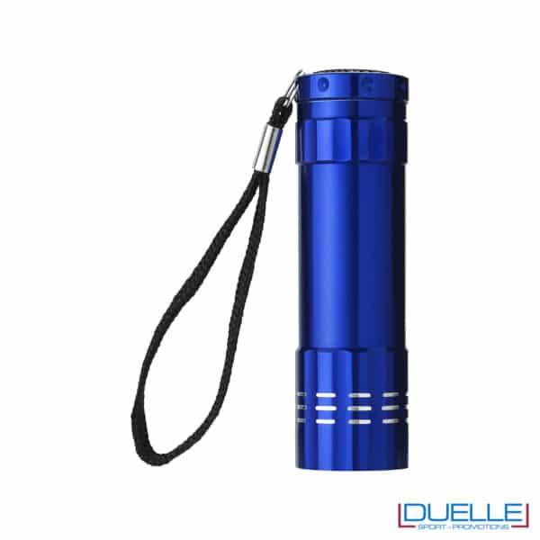 torcia blu con 9 luci LED personalizzata