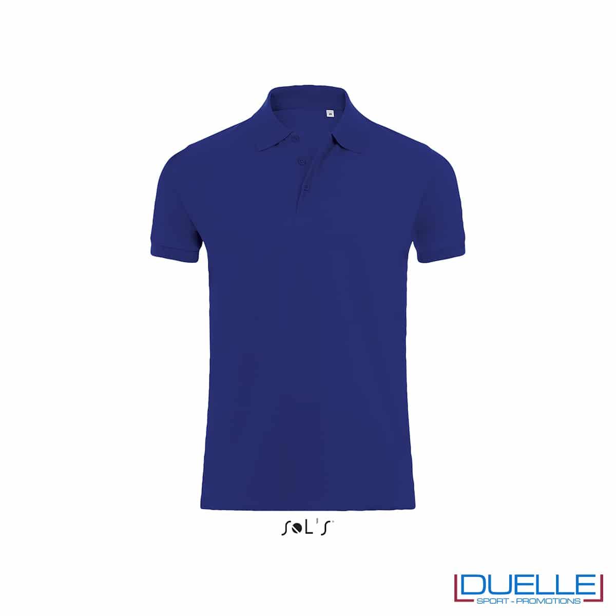 Polo uomo 220g/m2 blu coloniale