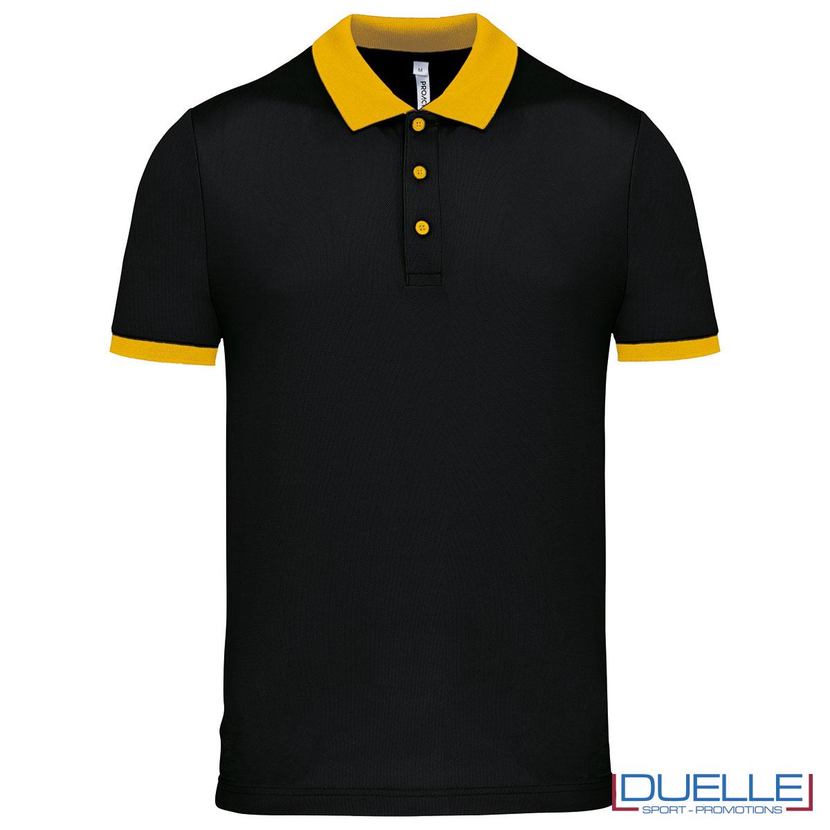 polo nera e gialla da uomo cool plus