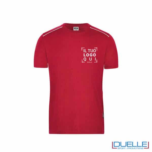 maglia da lavoro rossa resistente personalizzata