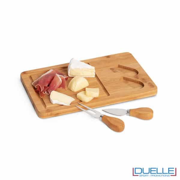 tagliere per formaggi in bambù