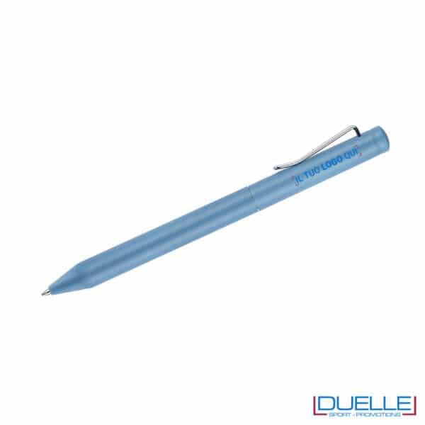 penna blu meccanismo a rotazione personalizzata