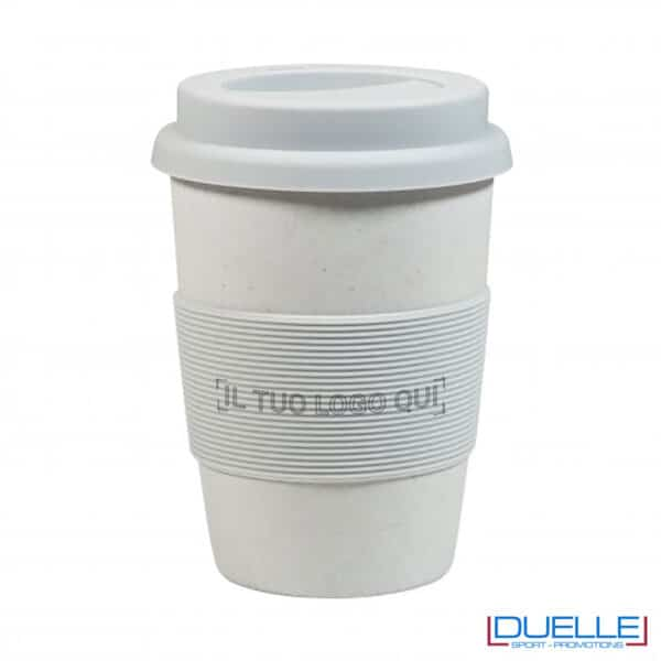 tazza grigia compostabile personalizzata