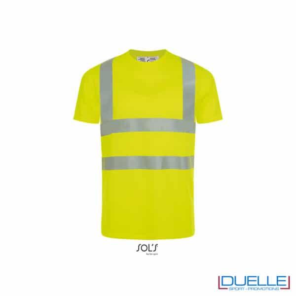 maglietta alta visibilità gialla
