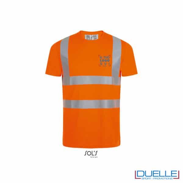 maglia arancione alta visibilità personalizzata