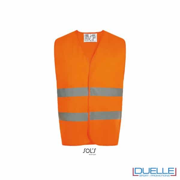 gilet alta visibilità arancio fluo