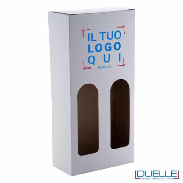 scatola doppia pe bottiglie personalizzata