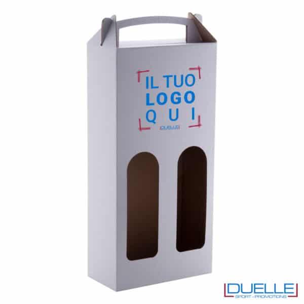 box da 2 bottiglie con maniglia da personalizzare