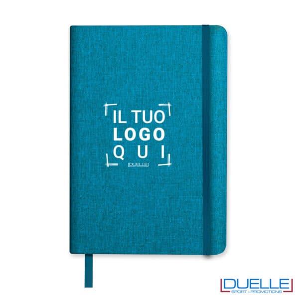 quaderno azzurro melange personalizzato
