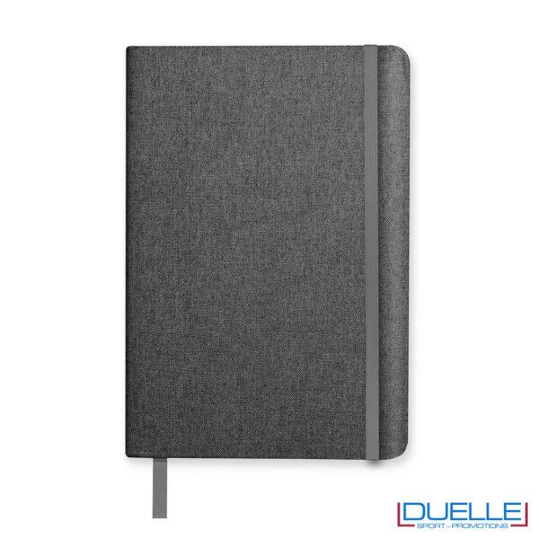 quaderno con copertina rigida grigio melange