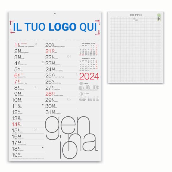 calendario 12 fogli olandese moderno