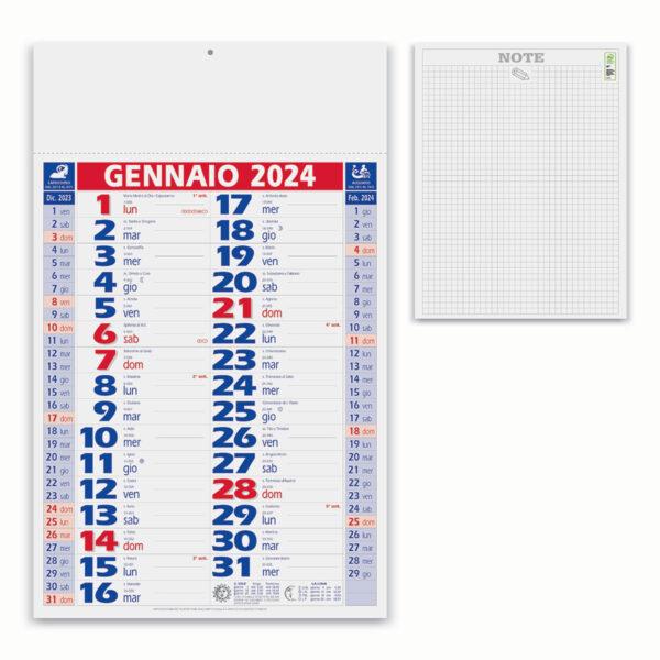 calendario 12 fogli olandese rosso