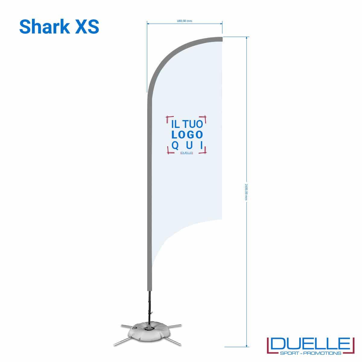 bandiera pubblicitaria a squalo