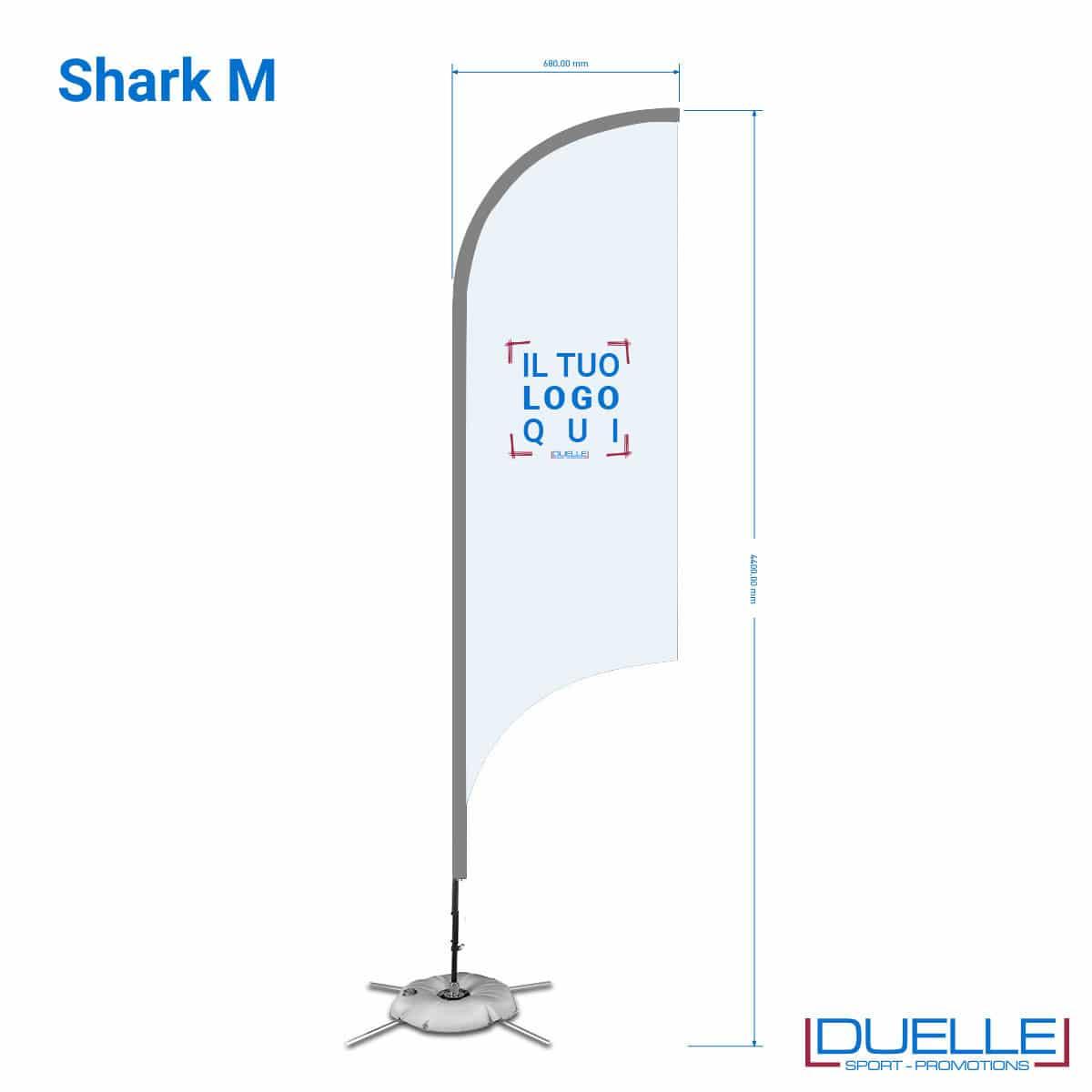 bandiera personalizzata M squalo