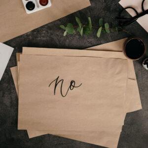 dire di no