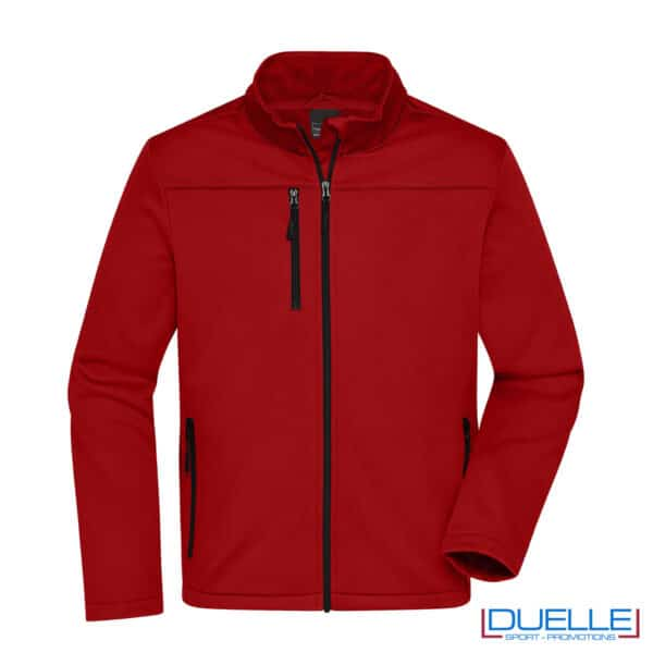 giacca softshell in R-PET sportiva colore rosso