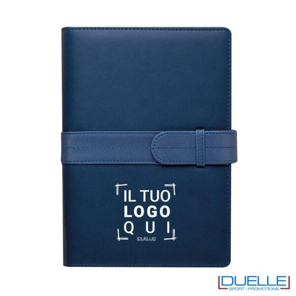 Agenda personalizzata portafoglio giornaliera colore blu royal