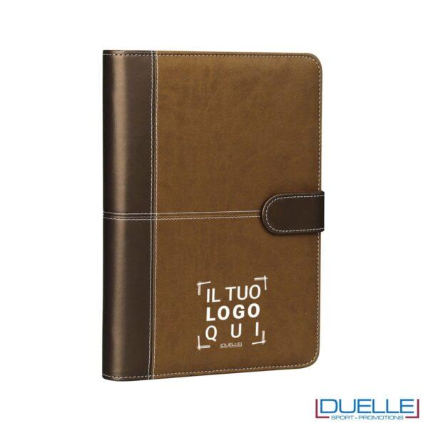 agenda personalizzata con organizer colore marrone