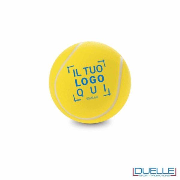 antistress personalizzato a forma di pallina da tennis, gadget sportivi personalizzati