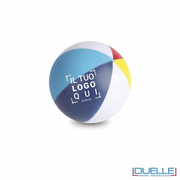 antistress personalizzato a forma di pallone colorato, gadget sportivi personalizzati
