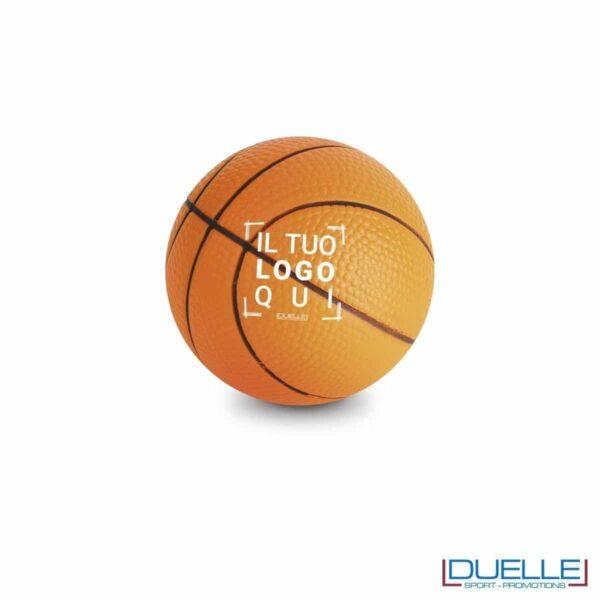 antistress personalizzato a forma di pallone da basket, gadget sportivi personalizzati