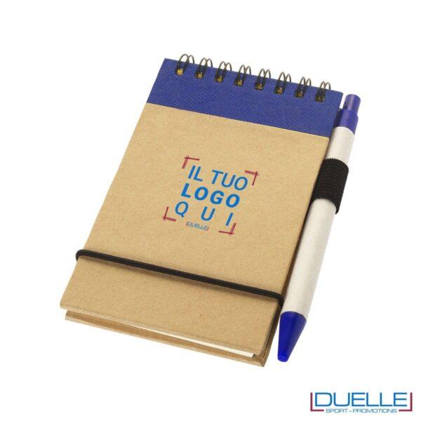 blocco per appunti personalizzato eco friendly colore blu, gadget ecologici personalizzati