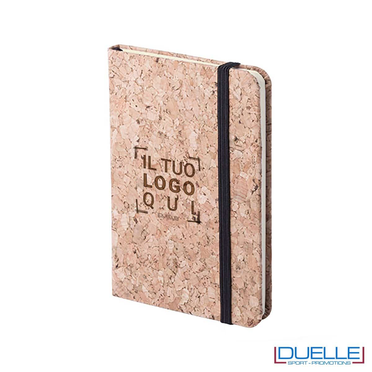 blocco per appunti in sughero personalizzato, quaderni ecologico personalizzabili, moleskine in sughero personalizzate