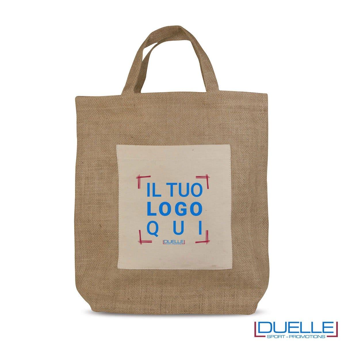 Shopper Personalizzate in Iuta e Cotone, Borse Economiche Personalizzate, Gadget Personalizzati, gadget Aziendali
