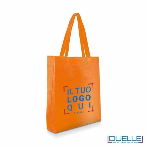 Shopper personalizzabile in TNT colore arancione