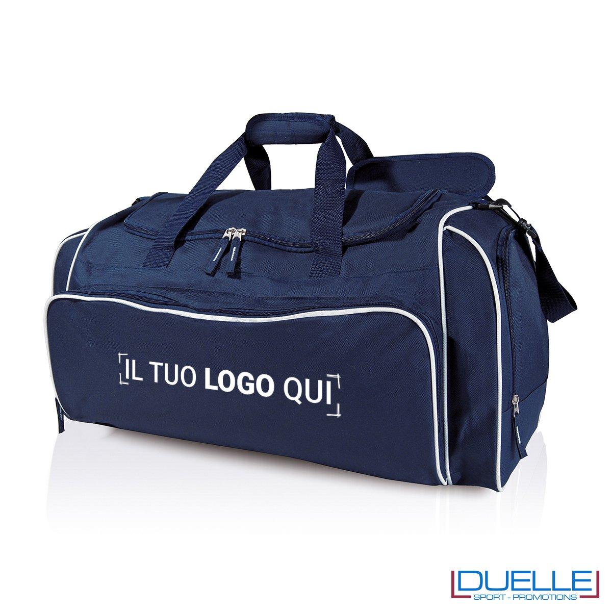 borsone sportivo personalizzato in colore blu, borsoni personalizzati sportivi blu