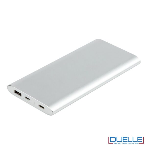 power bank personalizzato in polimero silver