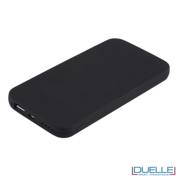 Power bank wireless personalizzato nero