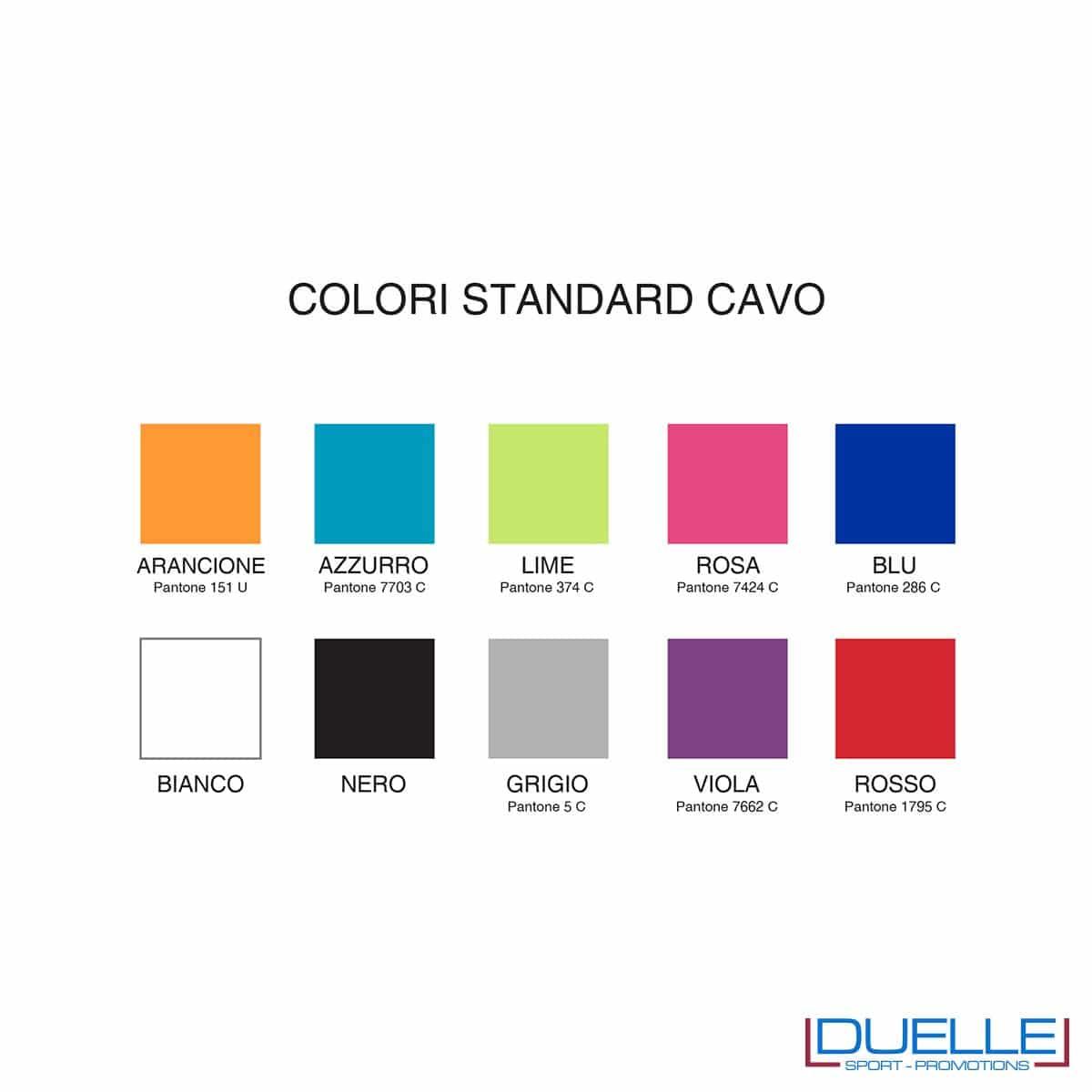 Colori standard cavo universal personalizzato