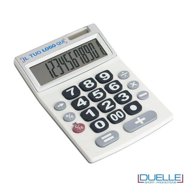 Calcolatrice da tavolo a 12 cifre, con display e tasti molto grandi per una maggiore visibilità.