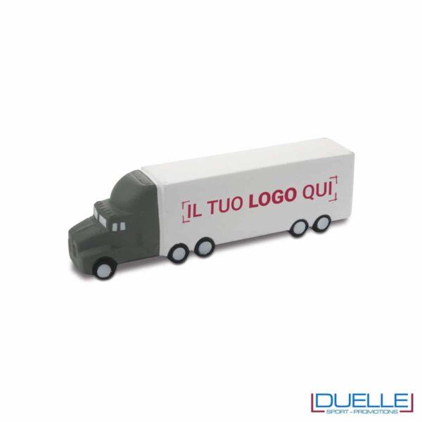 antistress personalizzato a forma di camion, gadget aziendali personalizzati
