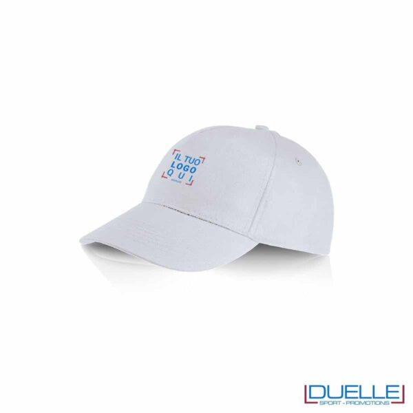Cappellino personalizzato cotone bianco, cappellini promozionali baseball, cappellini baseball personalizzati