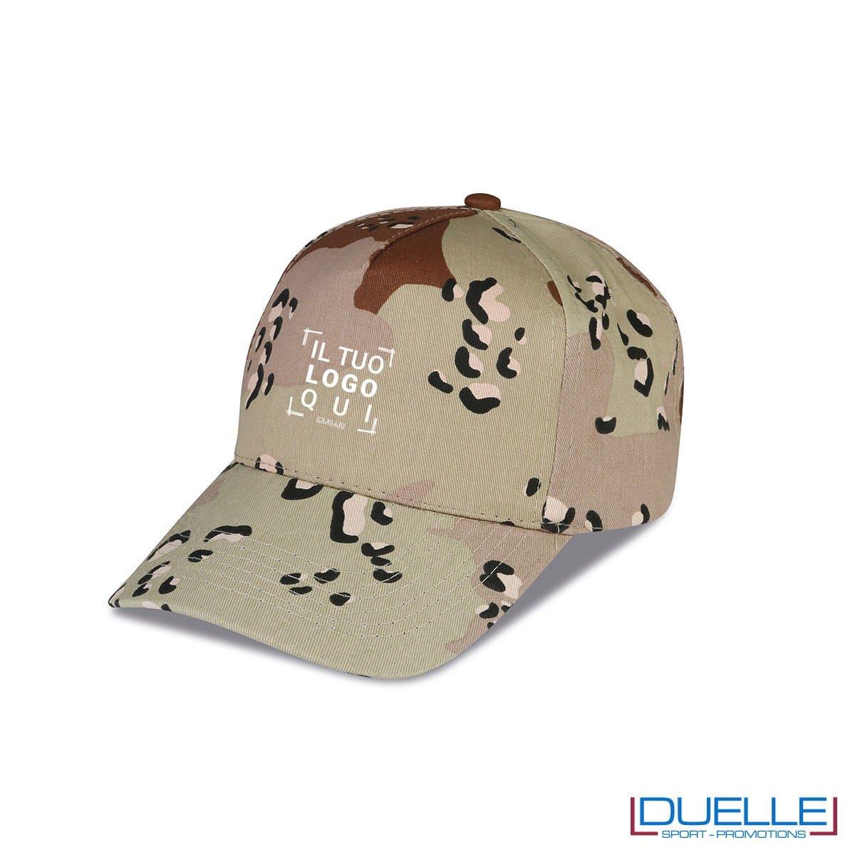 cappellino personalizzato in colore camouflage deserto