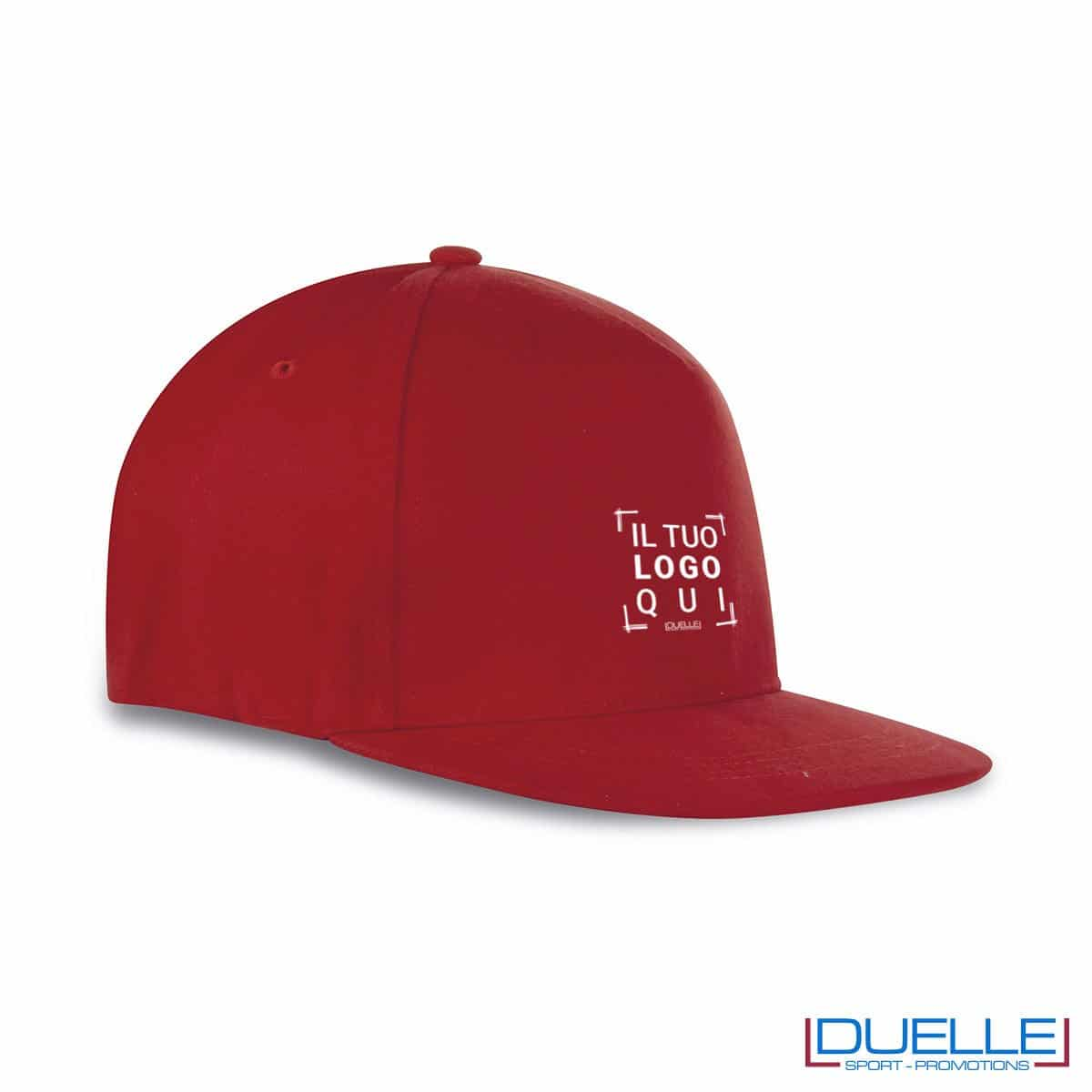 cappellino rapper personalizzato di colore rosso